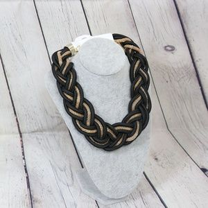 Jewelry - Black and gold Braided Oversized Necklace